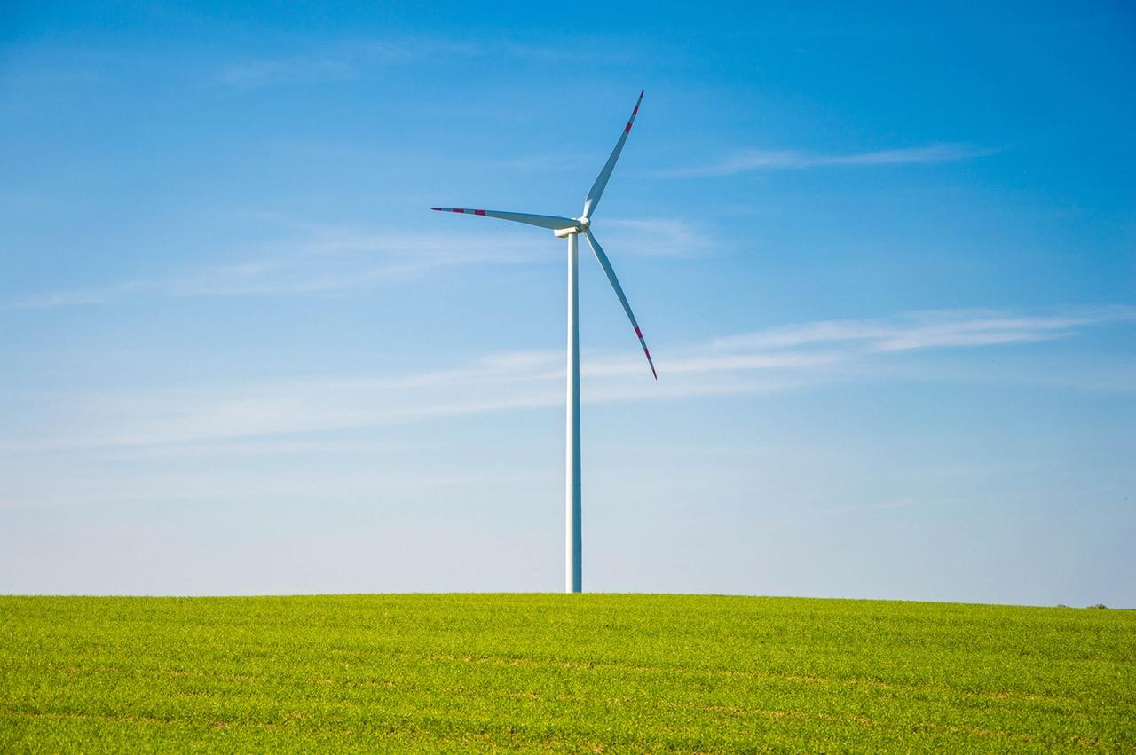 Nachhaltig Leben und Konsumieren Windrad