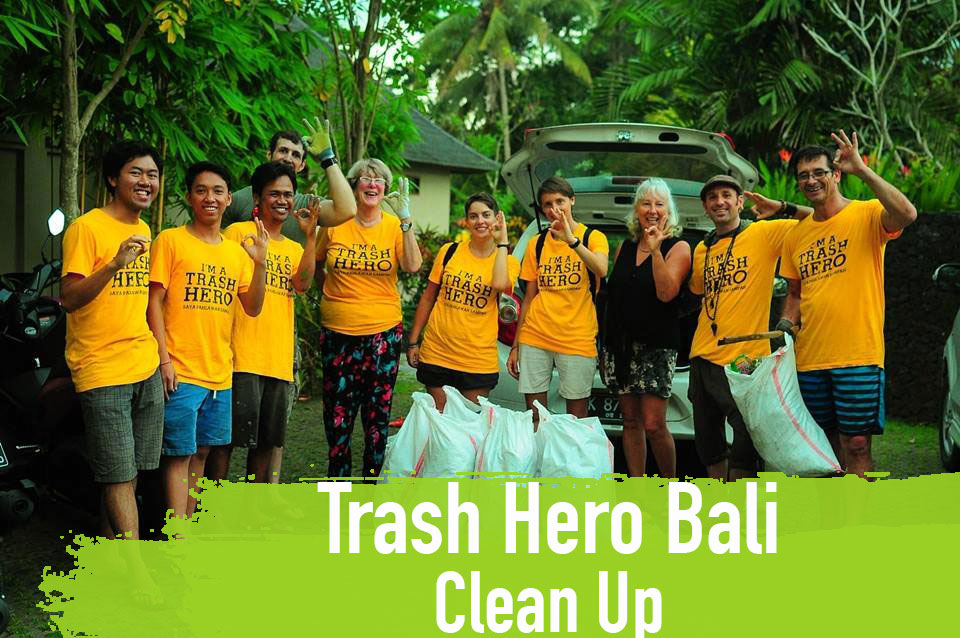 Trash Hero Bali Asien Clean Up Flaschen bottle