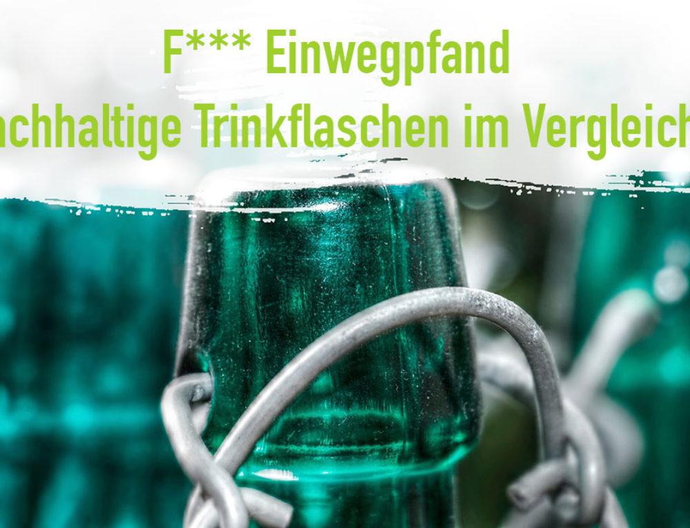 Nachhaltige Trinkflaschen BPA frei zum Wiederverwenden! (Neu)