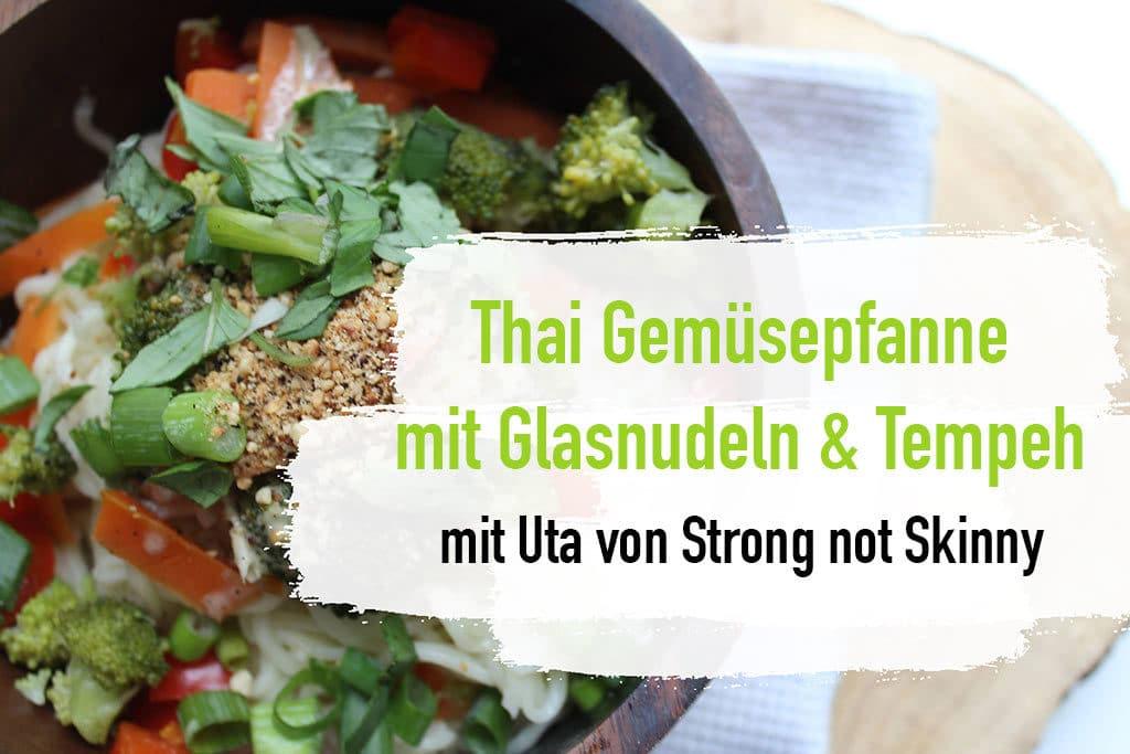 Tempeh Rezept - Gemüsepfanne gesund essen