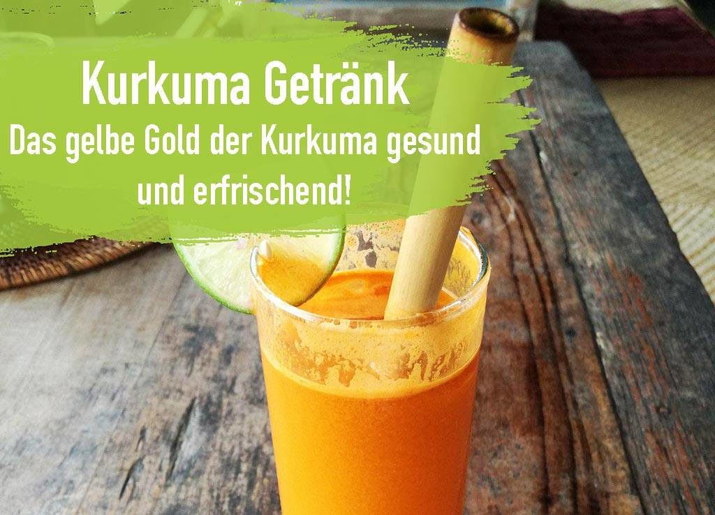Kurkuma Getränk orange lecker frisch gesund