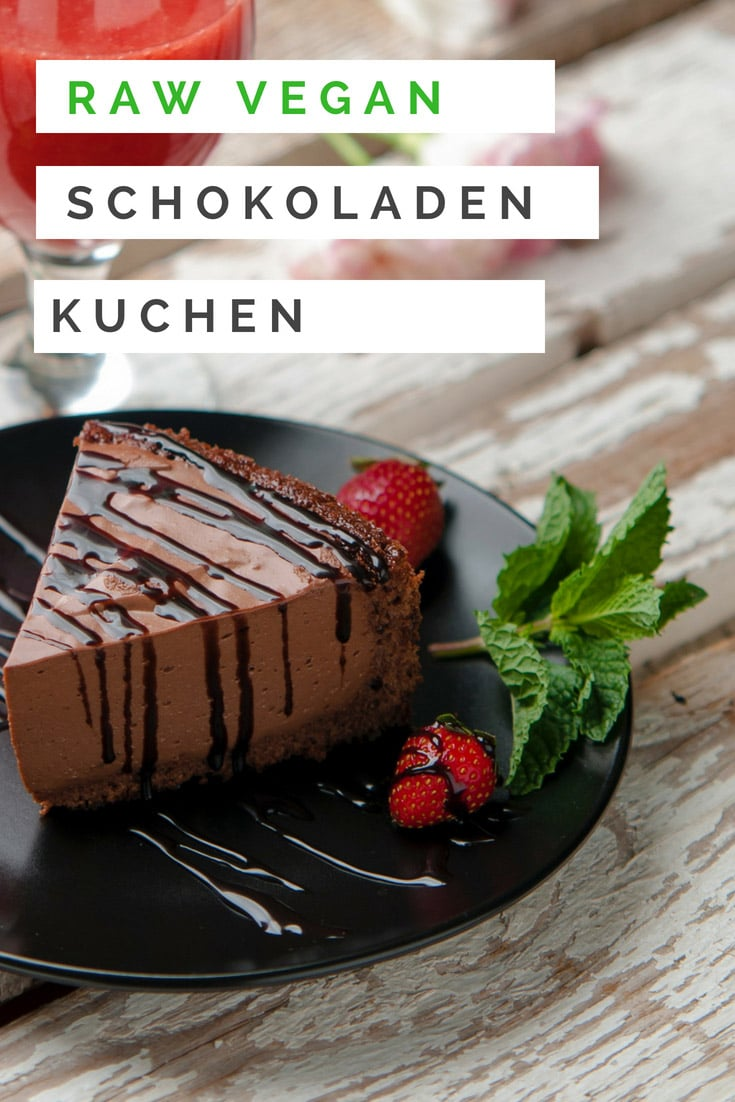 Roh Veganer Schokoladen Kuchen - Super Lecker