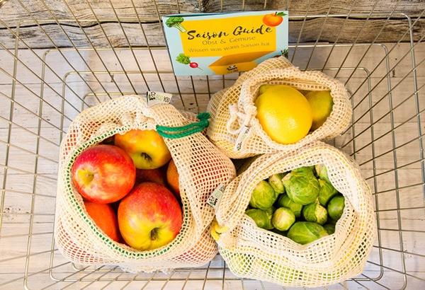 obstbeutel wiederverwendbare - unverpackt einkaufen im supermarkt - zero waste bewegung