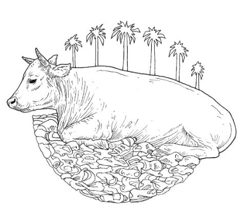 Eine Kuh inmitten von Müll - in vielen Ländern leider keine Seltenheit