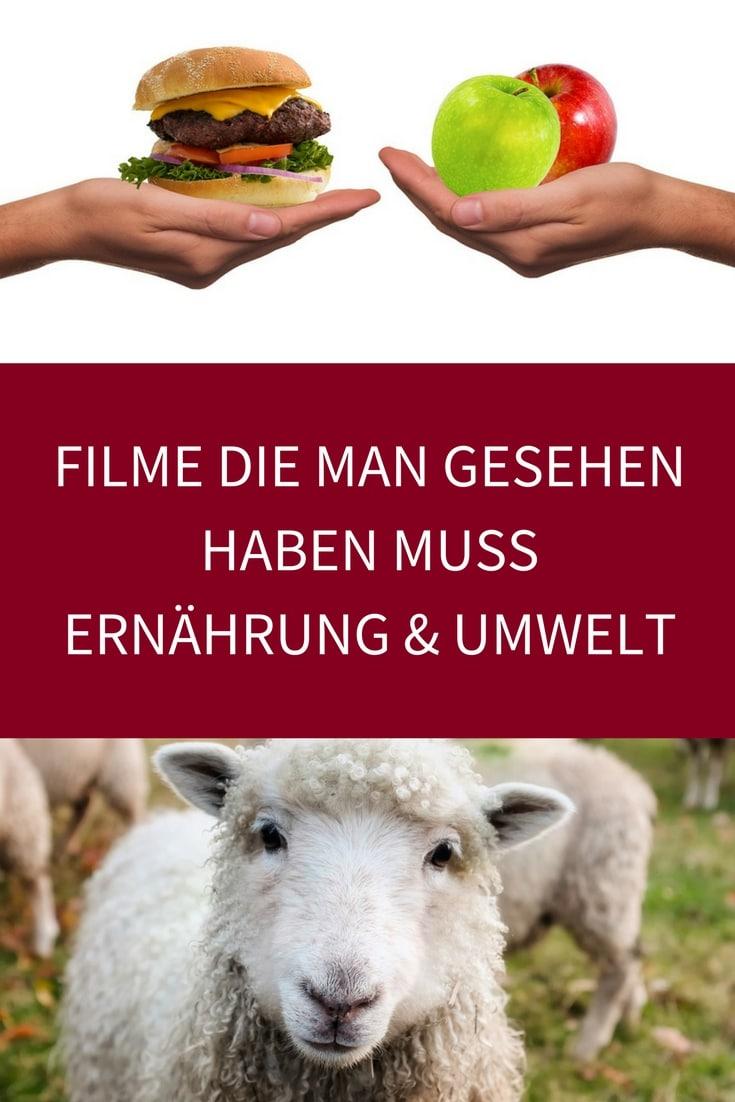 Vegane Filme zur Ernährung Vegetarisch Umweltschutz die man gesehen haben muss Tiere Plastik Diät Bücher Dokumentation schauen