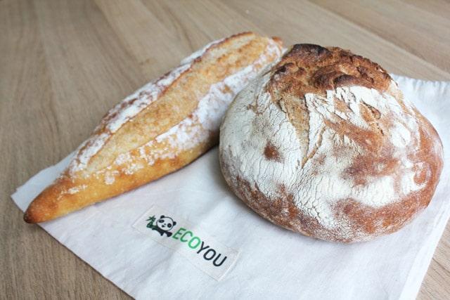 Brotbeutel für den Bäcker - Plastikfrei einkaufen ohne Verpackung Tipp Brottasche verpackungsfreier Einkauf Leben ohne Plastik EcoYou