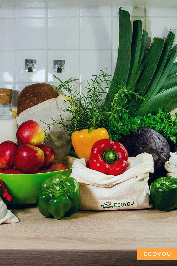 Gemüsebeutel Brotbeutel Plastikfrei Einkaufen ohne Plastik Leben ohne Plastik Obstnetz EcoYou