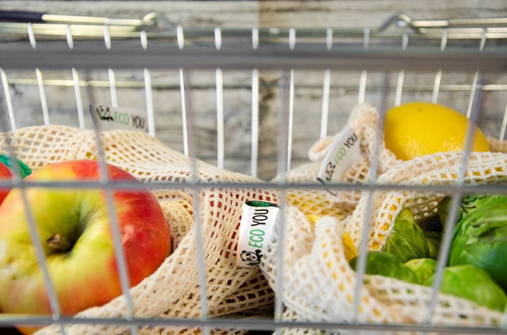 Einkaufsnetze Obstnetz wiederverwendbare Gemüsenetze für einen plastikfreien Einkauf ohne Plastik