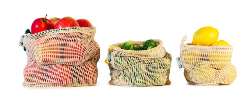 Plastikfrei Einkaufen mit Obst und Gemüsenetzen von EcoYou Baumwollnetz plastikfrei Leben ohne Plastik
