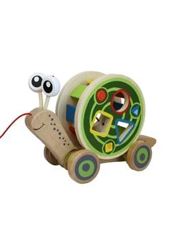 Holzschnecke Holzspielzeug für Kinder Schadstofffrei plastikfrei Leben ohne Plastik Baby