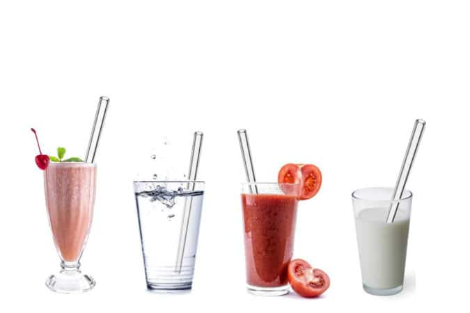 Glas Strohhalm Plastikfrei Glastrinkhalme Umweltfreundliche Strohhalme ohne Plastik