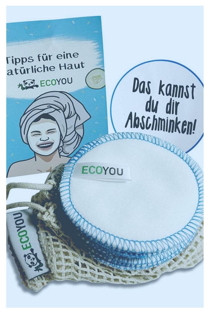 waschbare Abschminkpads aus Baumwolle Kosmetikpads wiederverwendbare plastikfreie Pads Zero Waste Leben ohne Plastik Badezimmer