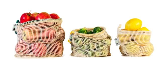 Baumwollbeutel - Gemüsebeutel - Obstbeutel - Plastikfrei einkaufen - EcoYou
