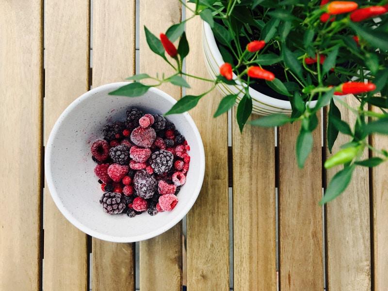 Nachhaltige Ernährung einfrieren in der Küche Umweltschutz