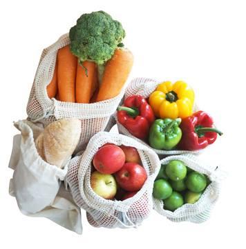 Gemüsenetz EcoYou Baumwollbeutel Plastikfrei Einkaufen ohne Plastik Leben ohne Plastik