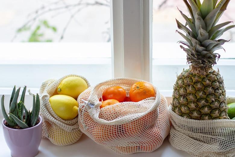 Unverpackt Einkaufen – Wiederverwendbare Obst- und Gemüsenetze – Leben ohne Plastik EcoYou Tipps