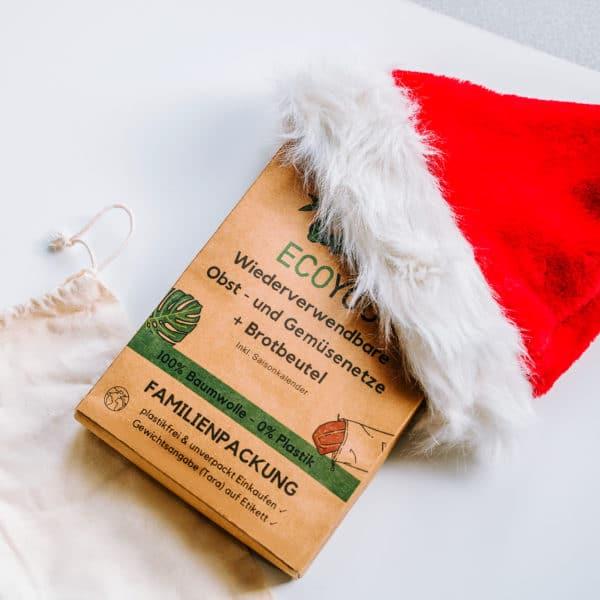 Nachhaltige Geschenke Verpacken Verpackung Geschenkverpackung DIY Natur Gemüsebeutel EcoYou plastikfrei einkaufen ohne Plastik