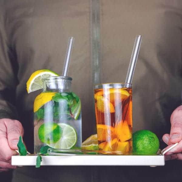 Glastrinkhalme Glasstrohhalme plastikfrei Leben ohne Plastik Zero Waste No Straw Plastikstrohhalm Unverpackt Tipps Ideen