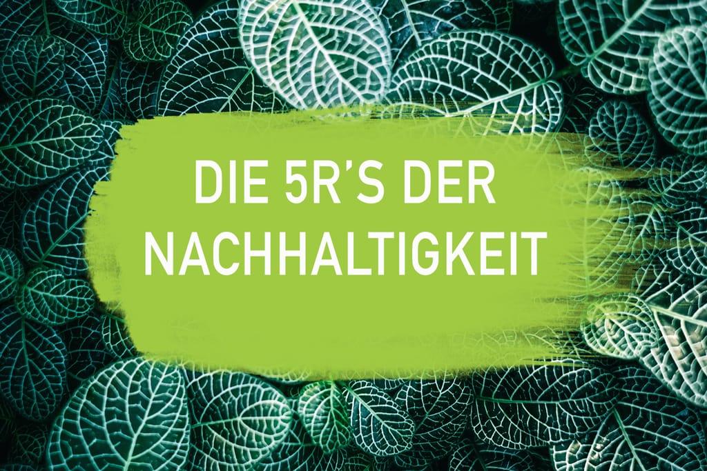 5R Nachhaltigkeit Reduce Reuse Recycle Rethink Refuse Zero Waste Plastikfrei Leben ohne Plastik EcoYou