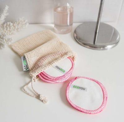 Plastikfrei Badezimmer Waschbare Abschminkpads Baumwolle Pads Bad Leben ohne Plastik Pink kaufen Vergleich Tipps