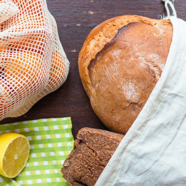Brotbeutel aus Baumwolle - Plastikfrei einkaufen - Nachhaltige Produkte - EcoYou - Zero Waste Online Shop