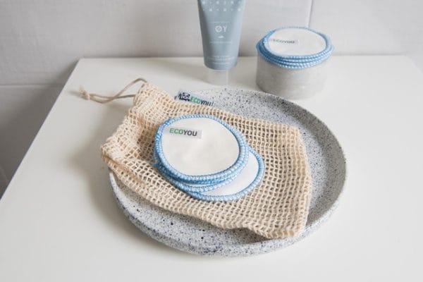 Waschbare Abschminkpads aus Baumwolle
