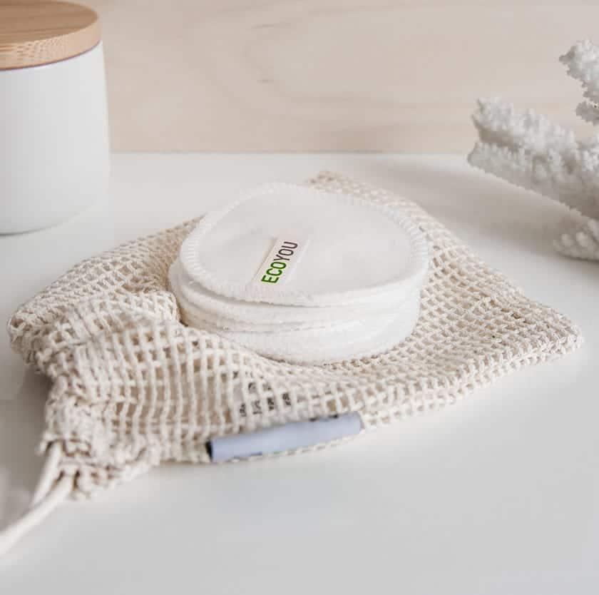 Waschbare Abschminkpads - Natürliche Gesichtspflege - Nachhaltige Produkte - Nachhaltig leben - EcoYou - Zero Waste Online Shop