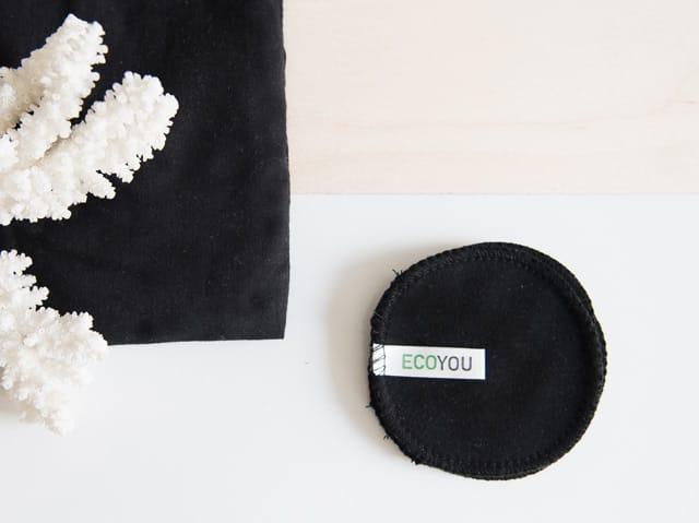 Waschbare und wiederverwendbare Abschminkpads aus Baumwolle - Leben ohne Plastik EcoYou