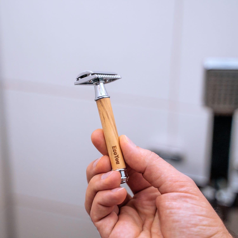Rasierhobel Plastikfrei Badezimmer Holz Leben ohne Plastik Zero Waste Bad Blog Tipps EcoYou