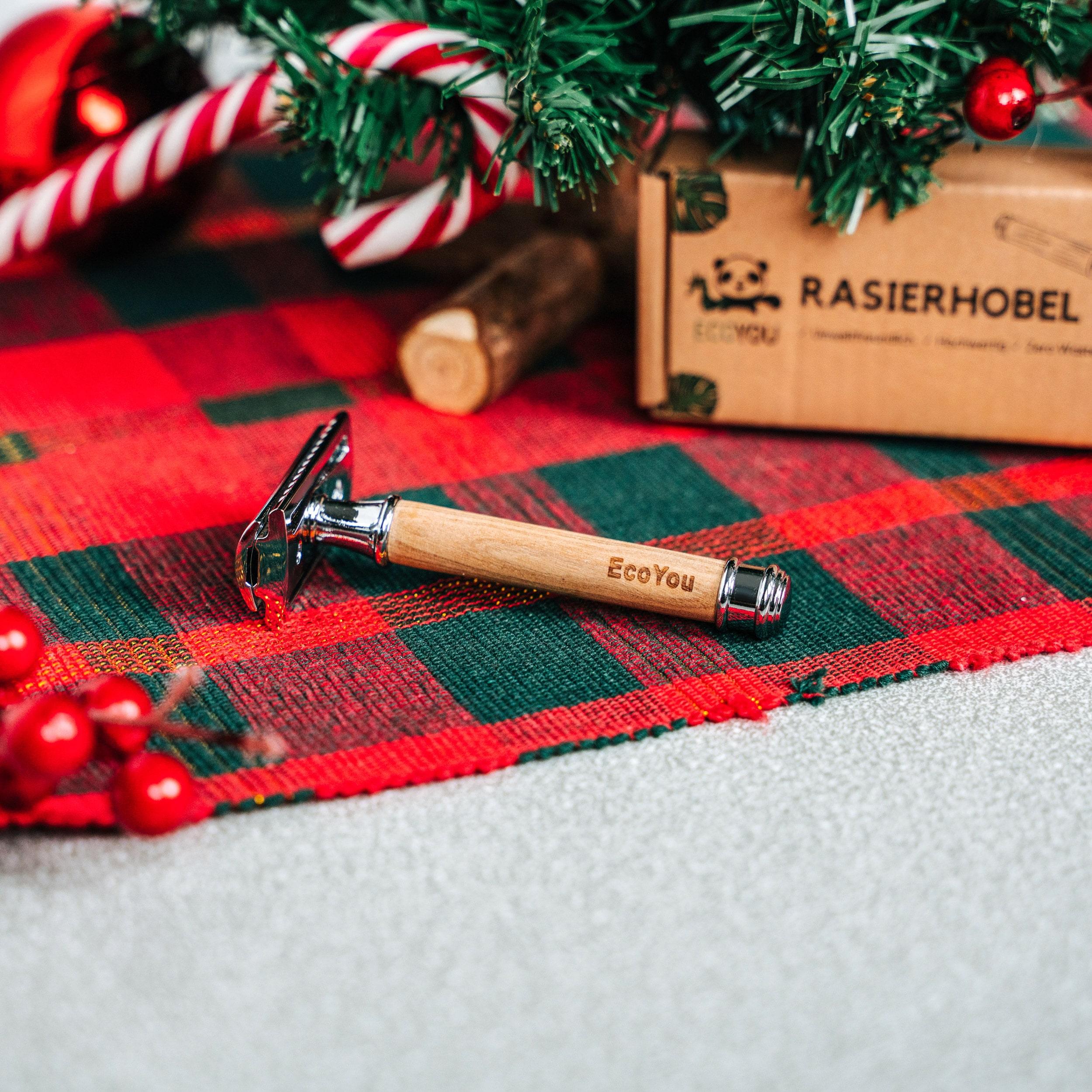 Nachhaltige Weihnachtsgeschenke EcoYou Rasierhobel Weihnachten