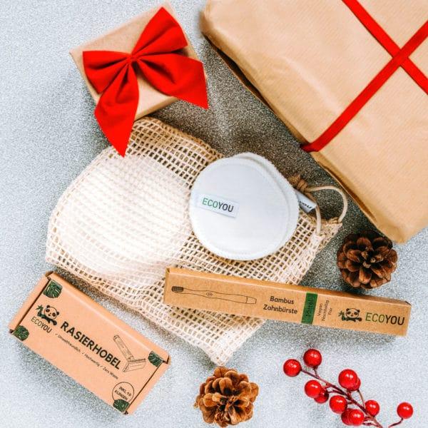 Waschbare Abschminkpads Zahnbürsten Weihnachten Geschenke Nachhaltig Verpackt