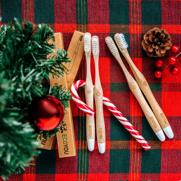 Bambus Zahnbürsten von EcoYou perfektes nachhaltiges Weihnachtsgeschenk plastikfrei Zero Waste