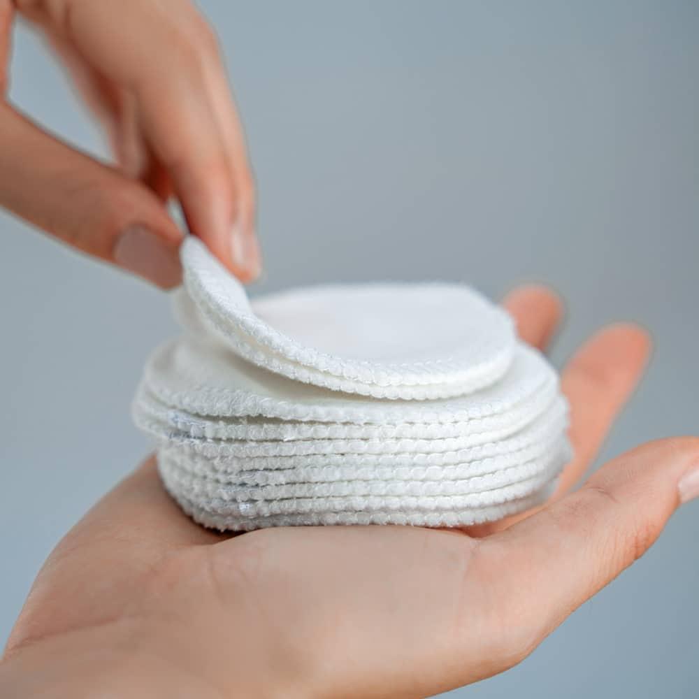 Waschbare wiederverwendbare Abschminkpads aus Bio Baumwolle - Zero Waste im Badezimmer