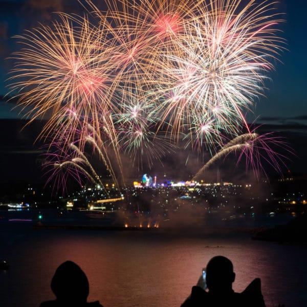 Silvester mit Feuerwerk
