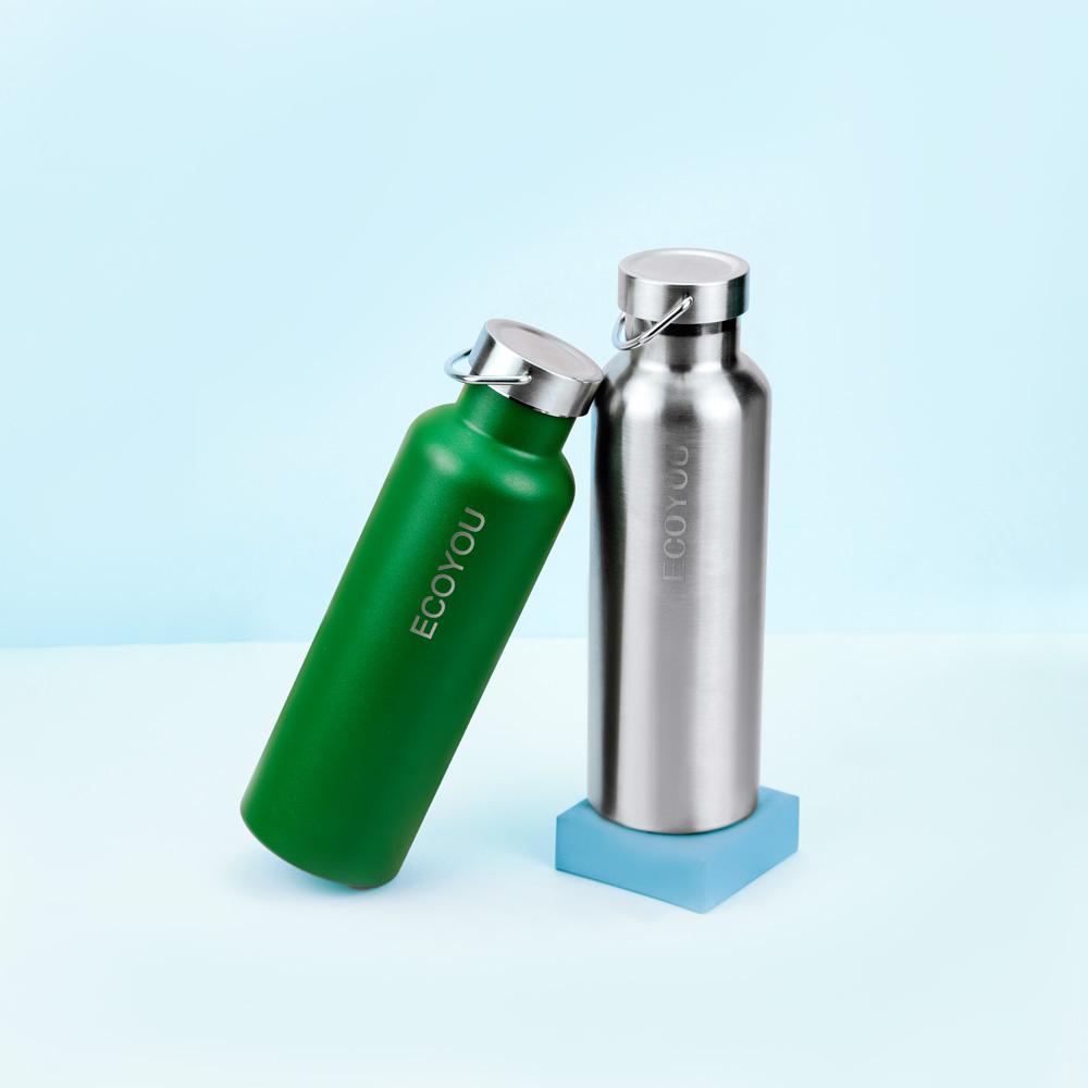 EcoYou Trinkflasche aus Edelstahl wiederverwendbare nachhaltige Flasche Isolierflasche