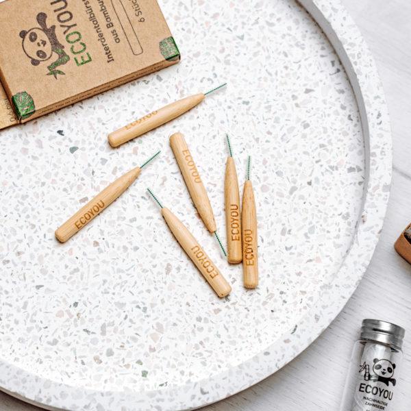 Interdentalbürstchen aus Bambus von EcoYou Nachhaltige Zahnpflege plastikfrei Leben ohne Plastik